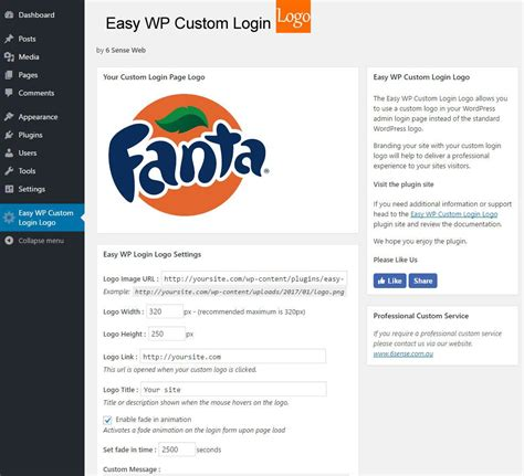 Easy Wordpress Custom Login Logo Plugin
