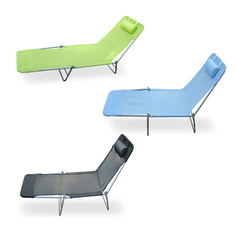 outdoor folding reclining sun patio chaise lounge chair pool lawn lounger ebay