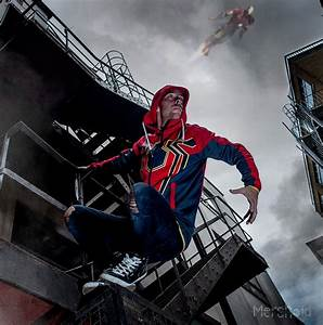 Spider-Man: Iron Spider Premium Tech Hoodie - Merchoid  Spiderman