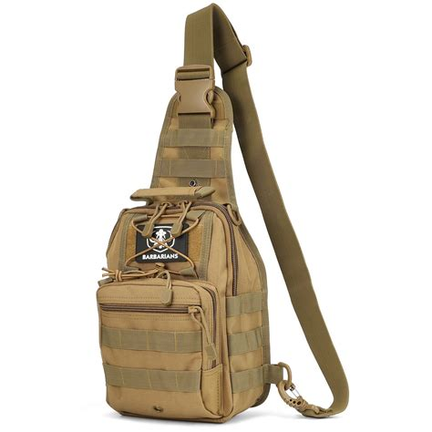 barbarians tactical sling bag pack barbarians military shoulder bag satchel molle range bag