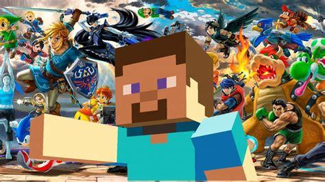 minecraft steve   smash ultimate youtube