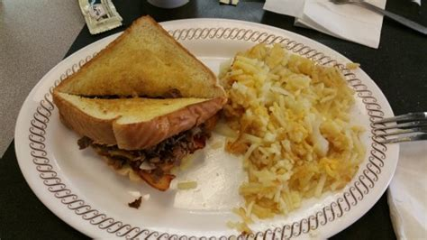 waffle house steak bacon cheese steak melt picture of waffle house