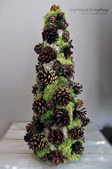 pinecone decorative tree trim  tree blog hop