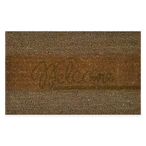 seagrass doormat nature by geo crafts coir seagrass creel quot welcome quot 18 inch