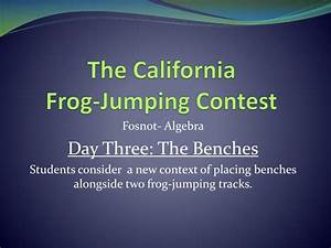 PPT - The California Frog-Jumping Contest PowerPoint ...