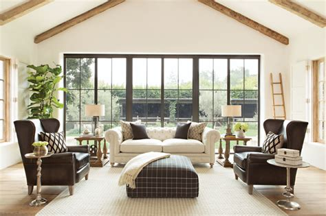 designed  jeff lewis spring  catalog farmhouse living room los angeles  living