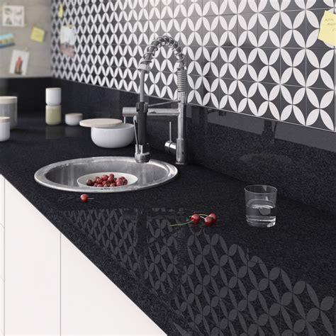 plan de travail droit stratifi 233 marbre noir 300 x 65 cm 233 p 38 mm leroy merlin