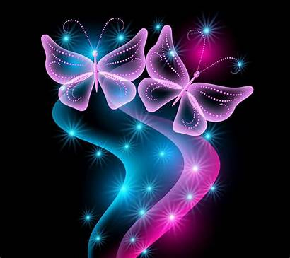 Butterfly Neon Wallpapers Psd Vector