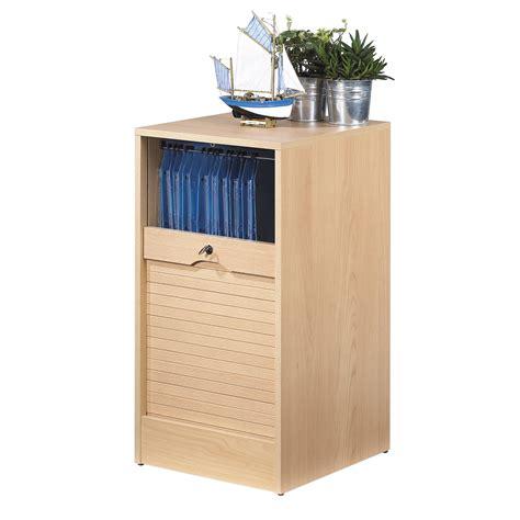 meuble rideau bureau armoire de bureau à rideau bois hêtre matha 80