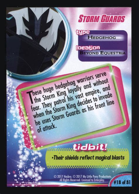 mlp storm guards trading cards mlp merch