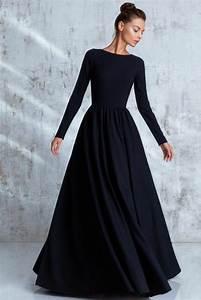 Idée De Tenue : 1001 id es de tenue f minine avec robe longue noire ~ Melissatoandfro.com Idées de Décoration