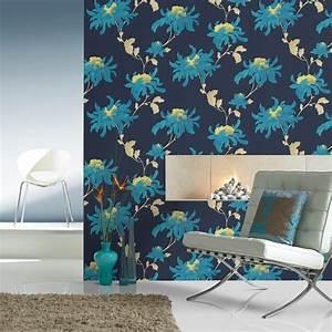 Accent wall ideas using wallpaper