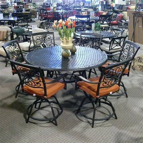 bar height patio dining set 7 vista counter height patio dining set