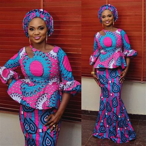 beautiful ankara skirt and blouse style for wedding 2018 designer blouse styles