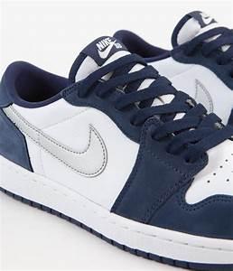 nike sb air 1 low shoes midnight navy metallic