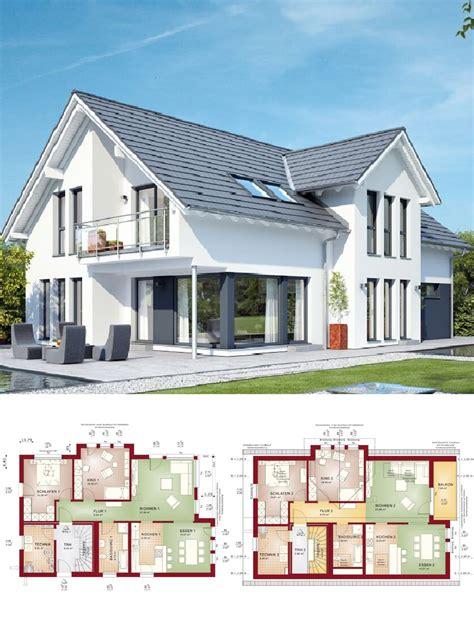 Modernes Haus Länglich by Modernes Einfamilienhaus Mit Einliegerwohnung Satteldach