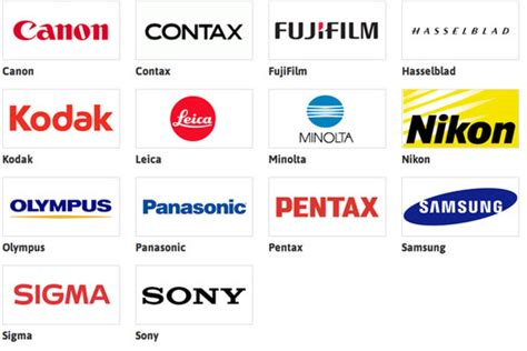 Image result for images of camera brands