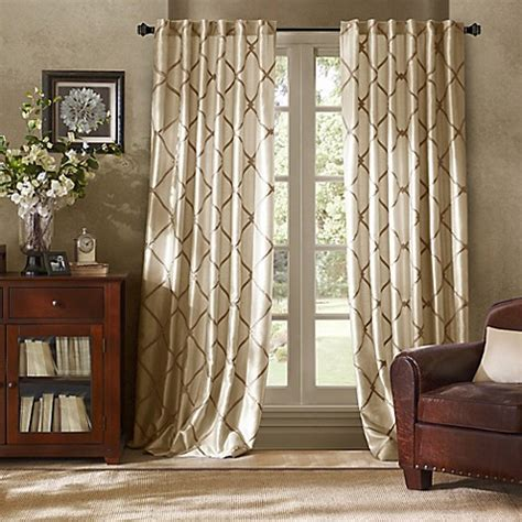 garrison embroidered interlined window curtain panels