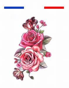 Tatouage De Rose : tatouage temporaire roses mon petit tatouage temporaire ~ Melissatoandfro.com Idées de Décoration
