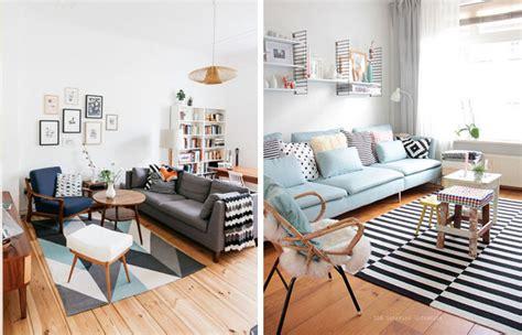 plaid pour canape idées déco pour un salon style scandinave made in meubles