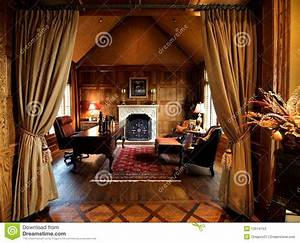 Luxurious Home Office Space Stock Image