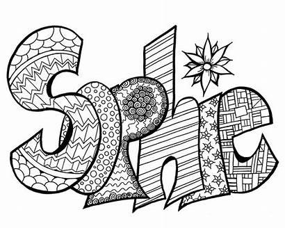 Coloring Pages Printable Sophie Names Printables Doodles