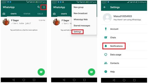 whatsapp on android customize whatsapp notifications on android msntechblog