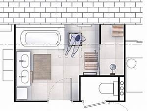 Plan 3d Salle De Bain Gratuit : idee amenagement salle de bain 5m2 ~ Melissatoandfro.com Idées de Décoration