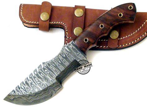 professional kitchen knives damascus tracker knife custom handmade damascus steel knife
