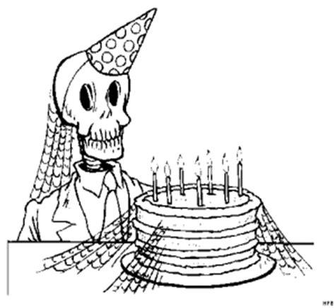 skelett mit kuchen ausmalbild malvorlage gemischt