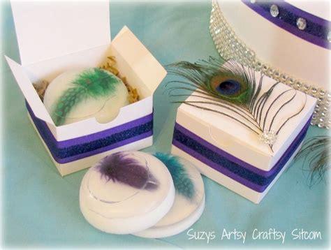 diy wedding peacock theme soap gift box