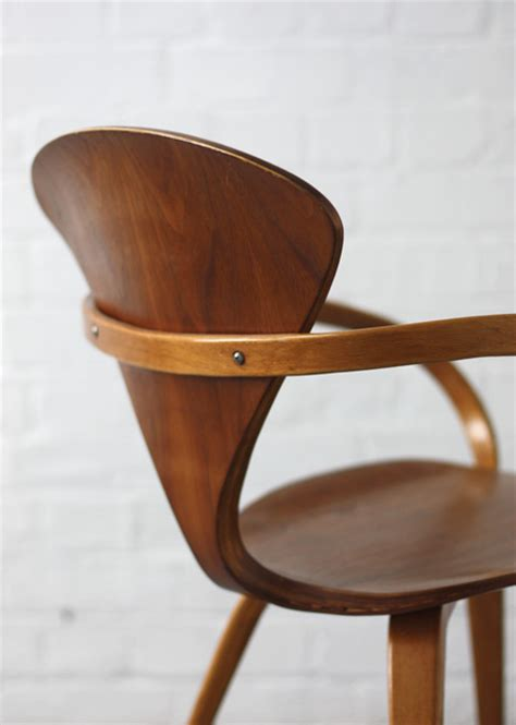 vintage walnut chair by norman cherner for cherner chair by norman cherner modern room 20th