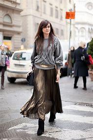Winter Street Style Maxi Skirts