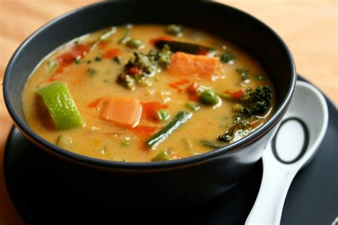 tasty vegetarian soups delicious vegan thai curry soup