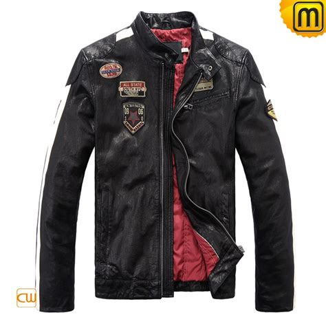 black motorbike jacket men 39 s black leather motorcycle jacket cw813028
