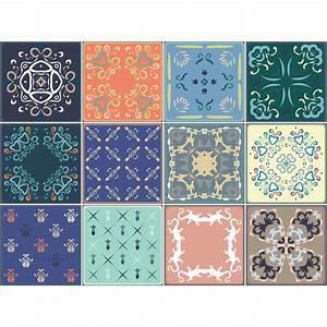 Stickers Carreaux De Ciment : 9 stickers carreaux de ciment salta salle de bain et wc ~ Melissatoandfro.com Idées de Décoration