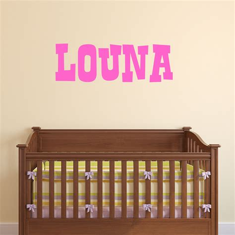 stickers chambre bébé personnalisé sticker prénom personnalisé enfants hardi stickers