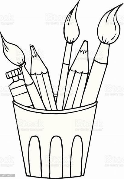 Tools Artist Craft Vector Equipment Clip Cartoon