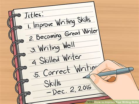 What To Write For Communication Skills In A Resume by How To Improve Your Writing Skills With Writing Exercises