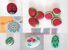 Stone Art DIYS Including Game Design YouTube