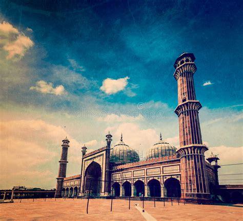 jama masjid mosque  india stock image image