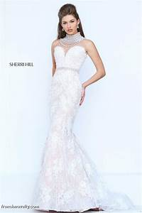 sherri hill 50083 mermaid dress with back draped pearls With sherri hill wedding dresses