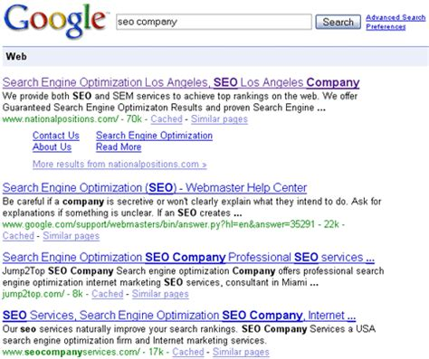 Seo Search Results - seo company search results an embarrassment to