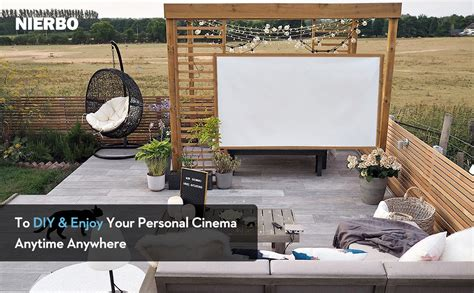 portable simple diy projection screen hanging