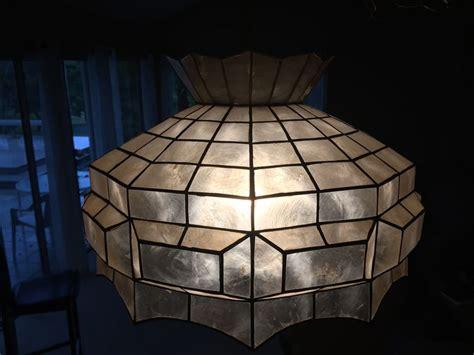 shell light fixture lot 36 of 134 vintage hanging capiz shell light fixture