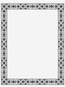 Christmas Border Word Victorian Border Frame Png Download Transparent