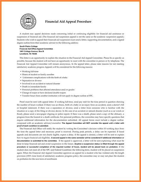 sap appeal letter marital settlements information