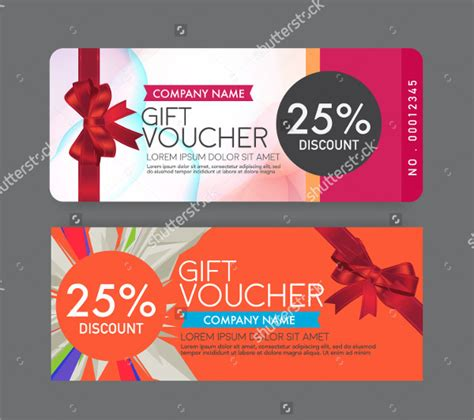 business gift voucher templates  premium