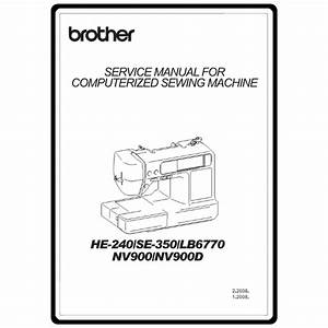 Service Manual  Brother Nv900   Sewing Parts Online