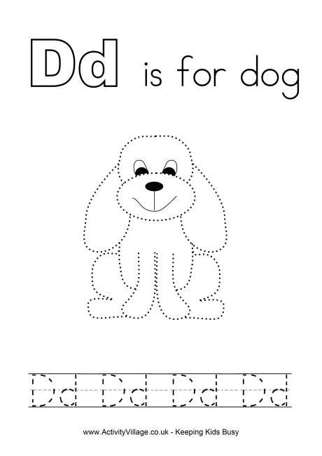 tracing alphabet d smart kids printables
